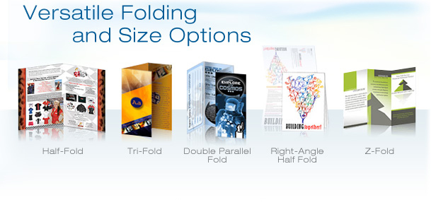 Options for folding Business Brochures