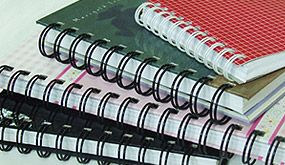 Artech Printing, Madison Heights MI, bindery services for your finished printed project, spiral binding