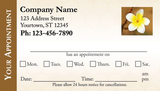 Artech Printing | Appointment Card Examples